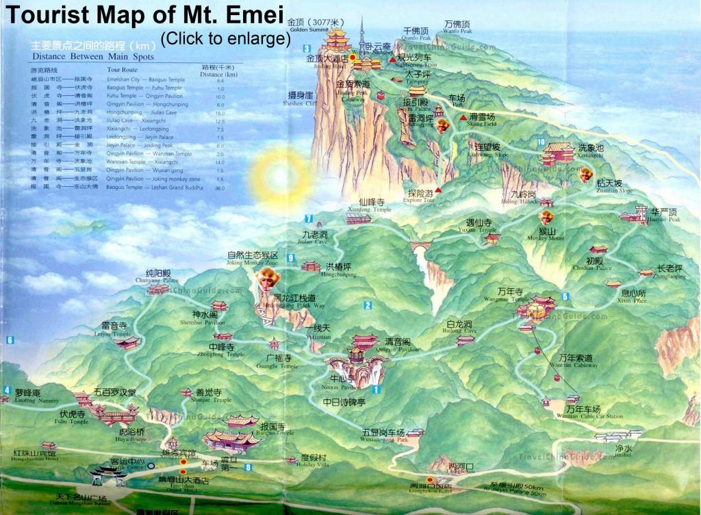 carte mont Emei