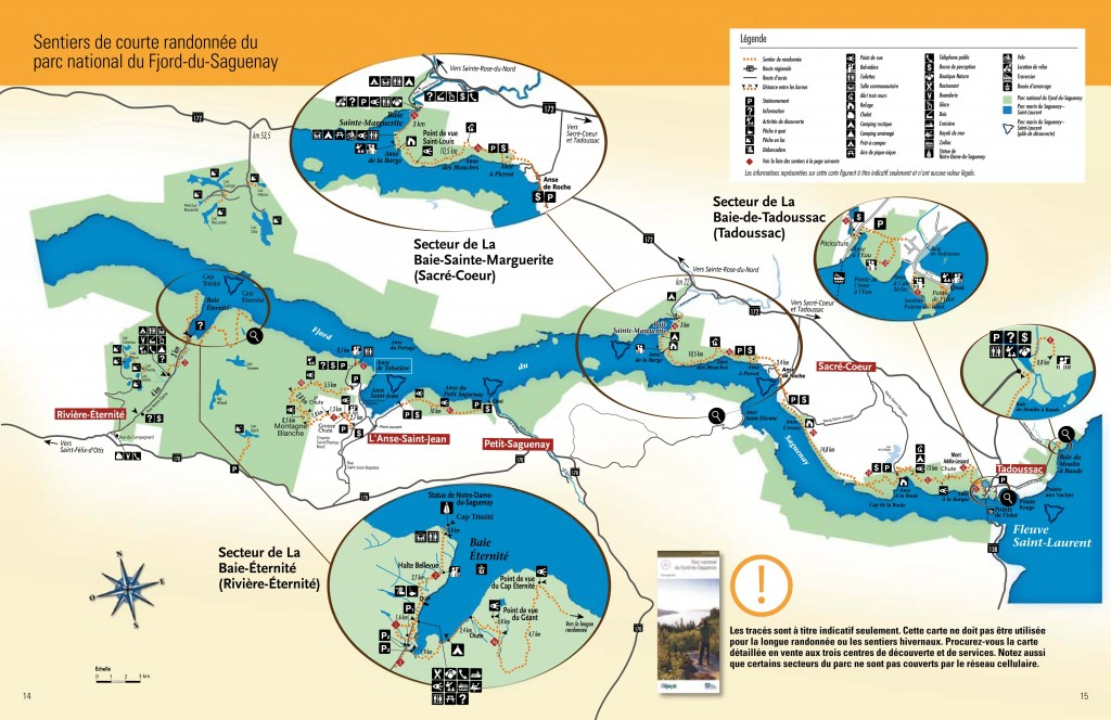 carte sentier fjord