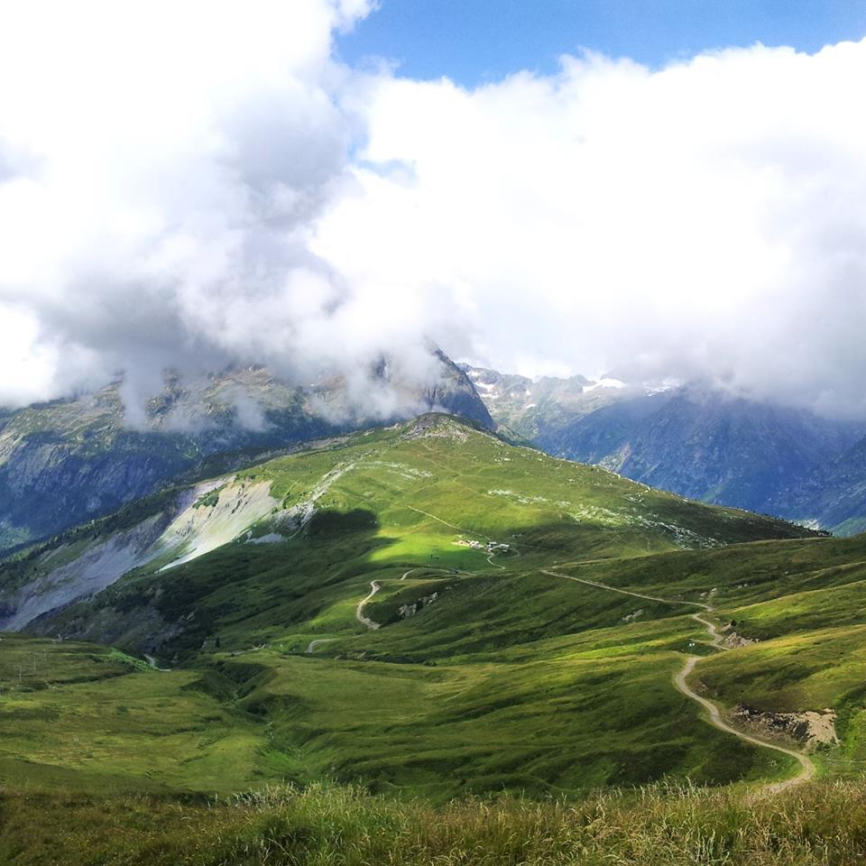 photo prise au smartphone sur le tour du Mont blanc et publiée sur Instagram