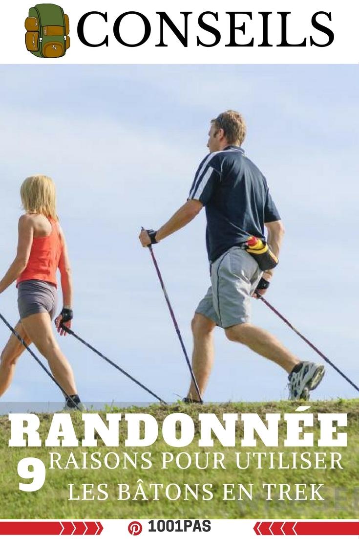 conseils 9 raisons utiliser batons de randonnée