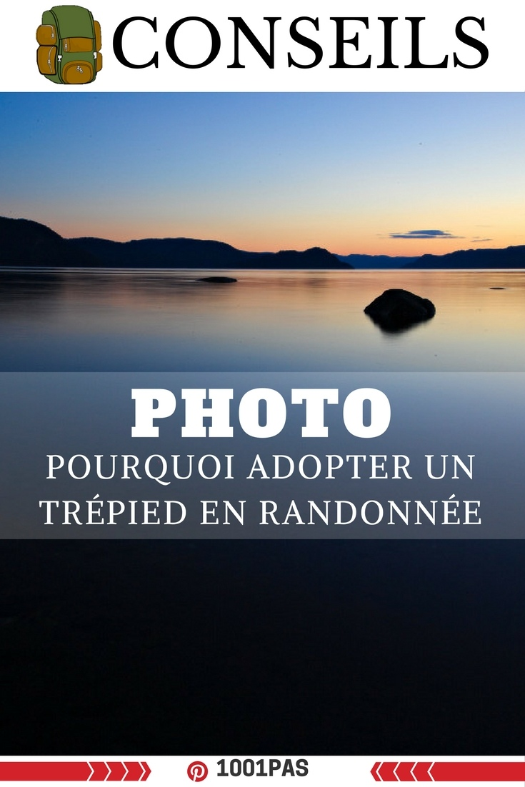 photo adopter trépied en randonnée