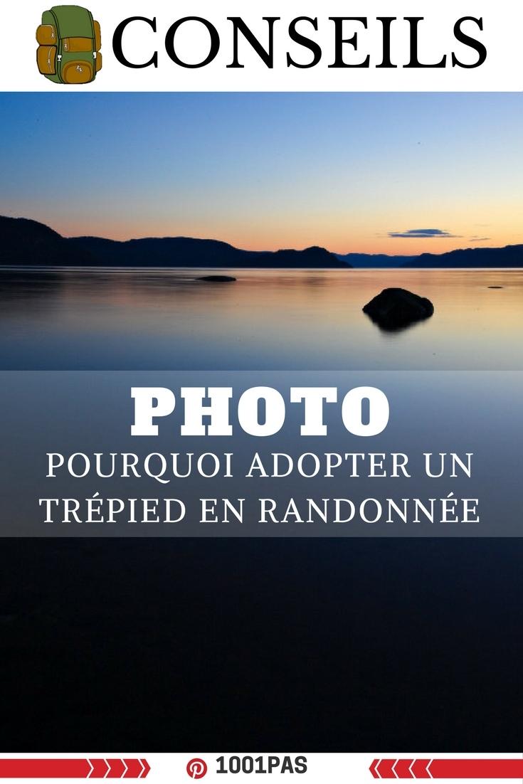photo adopter trépied en randonnée