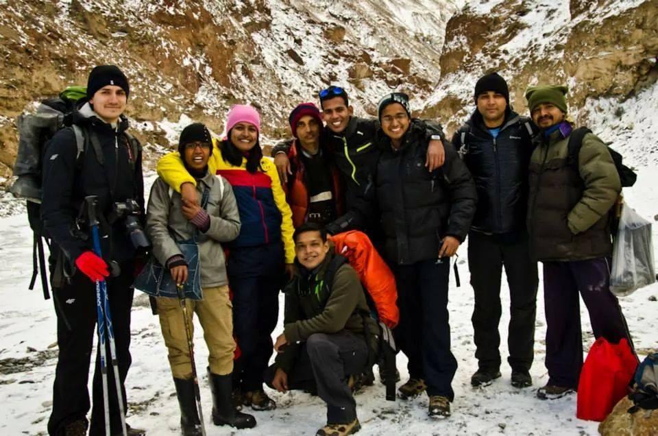 Equipe Chadar trek inde