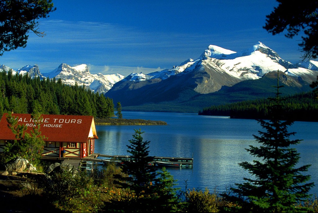 Maligne Lake Skyline