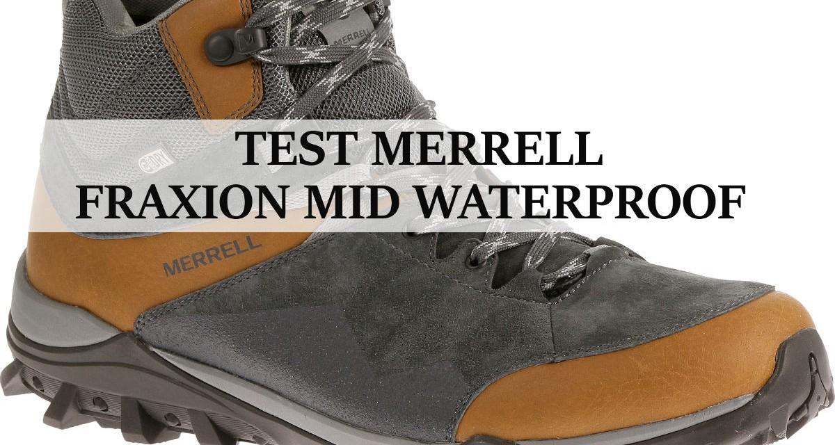 Test chaussure randonnée : Merrell Fraxion Mid Waterproof
