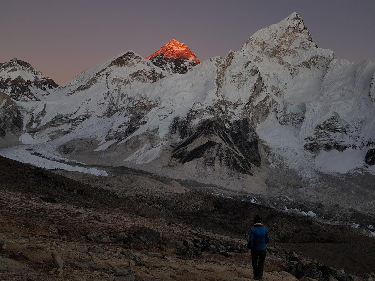 vue Everest couché soleil